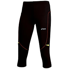 Buy Asics Fuji Knee Running Tights, Black/Pink Online at johnlewis.com
