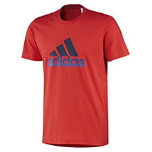 Buy Adidas Essentials Logo T-Shirt Online at johnlewis.com