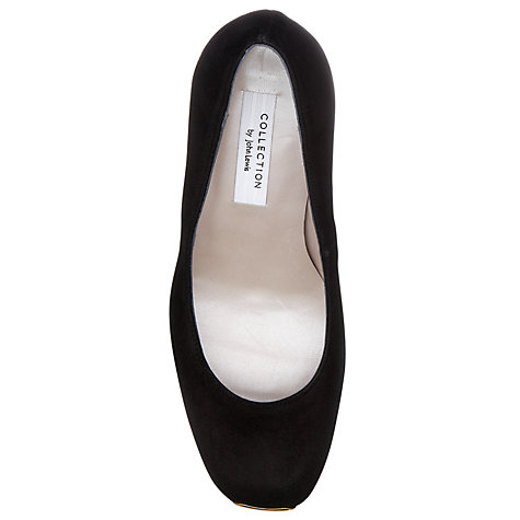 Buy COLLECTION by John Lewis Rosario Metal Accent Suede Court Shoes, Black Online at johnlewis.com