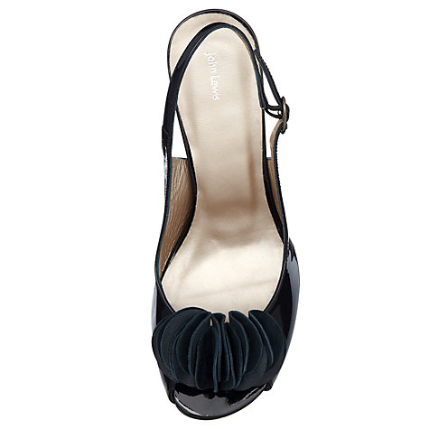Buy John Lewis Taska Patent Ruffle Trim Slingback Court Shoes Online at johnlewis.com