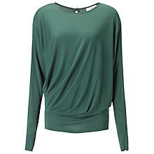 Buy allegra by Allegra Hicks Azara Top, Bottle Green Online at johnlewis.com