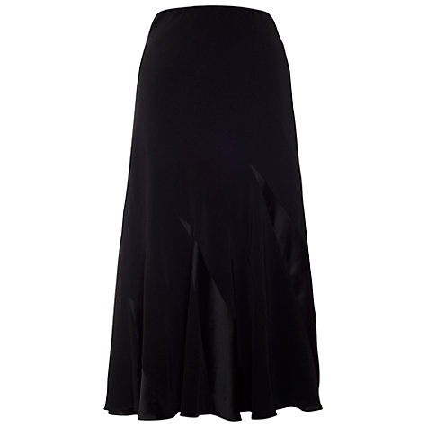 Buy Chesca Satin Back Contrast Skirt, Black Online at johnlewis.com