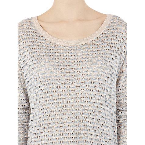 Buy Warehouse Curved Hem Jumper, Light Blue Online at johnlewis.com