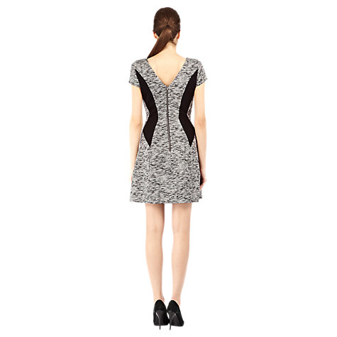 Buy Warehouse Marl Swing Dress, Light Grey Online at johnlewis.com