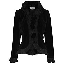 Buy James Lakeland Velvet Jacket, Black Online at johnlewis.com