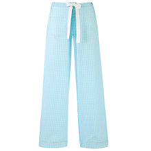 Buy John Lewis Seersucker Ginham Pyjama Bottoms, Pale Blue Online at johnlewis.com