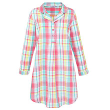 Buy John Lewis Checked Nightshirt, Multi Online at johnlewis.com