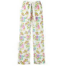 Buy John Lewis Large Floral Print Pyjama Bottoms, Multi Online at johnlewis.com