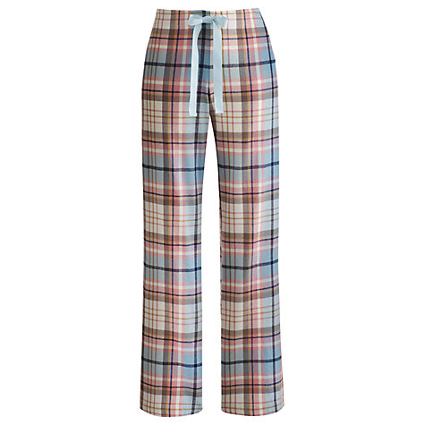 Buy Joules Fleur Checked Pyjama Bottoms, Pink Online at johnlewis.com