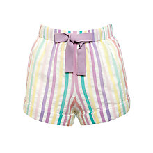 Buy John Lewis Seersucker Striped Pyjama Shorts, Multi Online at johnlewis.com