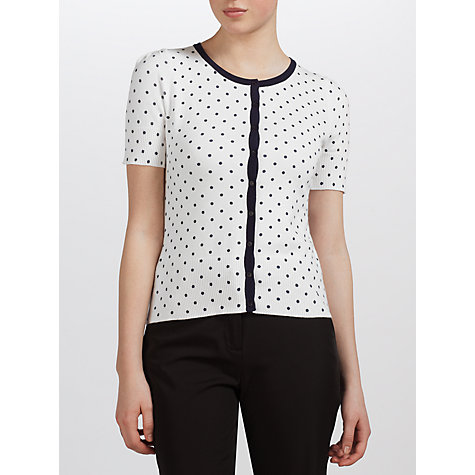 Buy COLLECTION by John Lewis Macey Cardigan, White/Mojito Online at johnlewis.com