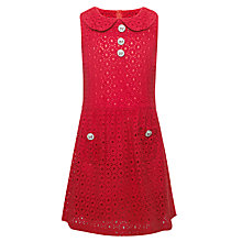 Buy Yumi Girls Bonnie Broderie Dress, Red Online at johnlewis.com