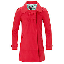 Buy Yumi Girls Bow Mac, Red Online at johnlewis.com