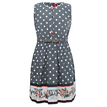 Buy Yumi Girls Floral and Spot Dress, Navy Online at johnlewis.com