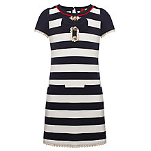 Buy Yumi Girls Lola Striped Bow Tunic, Navy Online at johnlewis.com