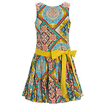Buy Derhy Kids Hanky Print Dress, Yellow Online at johnlewis.com
