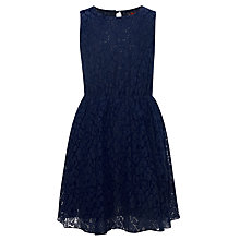 Buy Yumi Girls Polly Lace Dress, Navy Online at johnlewis.com