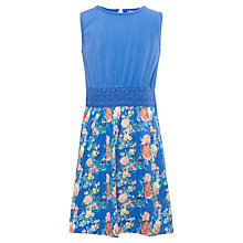 Buy Yumi Girls Floral Dress, Blue Online at johnlewis.com