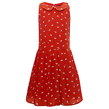 Buy Yumi Girls Savannah Zebra Print Dress, Orange Online at johnlewis.com
