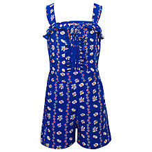 Buy Yumi Girls Daisy Chain Playsuit, Blue Online at johnlewis.com