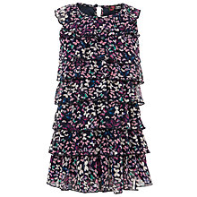 Buy Yumi Girls Frill Ruffle Dress, Navy Online at johnlewis.com
