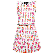 Buy Yumi Girls Ice Lolly Print Dress, White/Pink Online at johnlewis.com