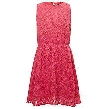 Buy Yumi Girls Polly Lace Dress, Pink Online at johnlewis.com