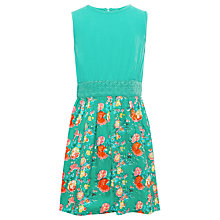 Buy Yumi Girls Rose Floral Dress, Green Online at johnlewis.com