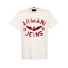 Buy Armani Jeans Large Eagle T-Shirt Online at johnlewis.com