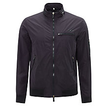 Buy Armani Jeans Lightweight Bike Jacket, Navy Online at johnlewis.com