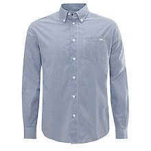 Buy Armani Jeans Gingham Check Shirt, Navy Online at johnlewis.com