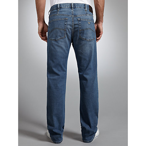 Buy Armani Jeans Light Wash Jeans, Blue Online at johnlewis.com