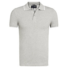 Buy Armani Jeans Tipped Collar Polo Shirt, Grey Online at johnlewis.com