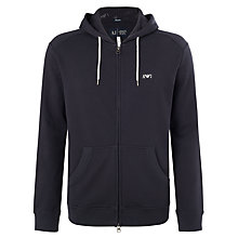 Buy Armani Jeans Logo Zip Hoodie, Navy Online at johnlewis.com