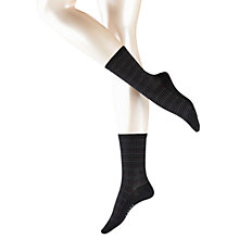Buy Falke Dot Lines Ankle Socks, Black Online at johnlewis.com