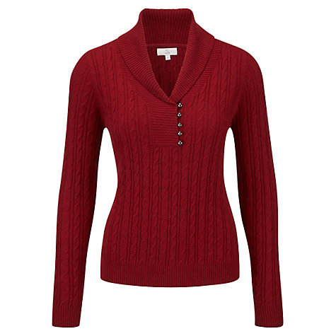 Buy CC Petite Shawl Collar Jumper, Merlot Online at johnlewis.com
