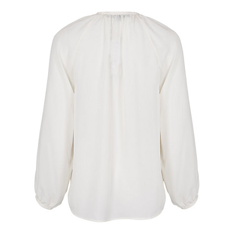 Buy French Connection Silky Blouse, Antique Lace Online at johnlewis.com