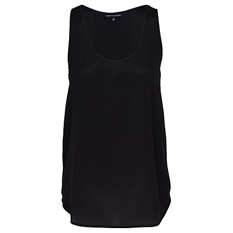 Buy French Connection Slub Silky Vest, Black Online at johnlewis.com
