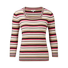 Buy CC Square Neck Striped Jumper, Multi Online at johnlewis.com