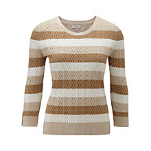 Buy CC Cable Striped Jumper, Multi Online at johnlewis.com