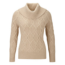 Buy CC Cable Cowl Neck Jumper, Natural Online at johnlewis.com