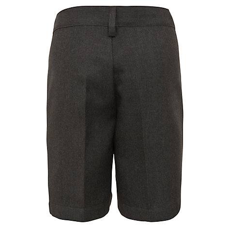 Buy John Lewis Boys' Bermuda School Shorts, Grey Online at johnlewis.com