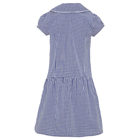 Buy John Lewis School Gingham A-Line Summer Dress, Navy Online at johnlewis.com
