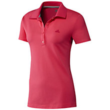 Buy Adidas Essentials Women's Polo Shirt, Red Online at johnlewis.com