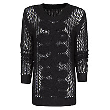 Buy Mango Twist Detail Jumper, Black Online at johnlewis.com