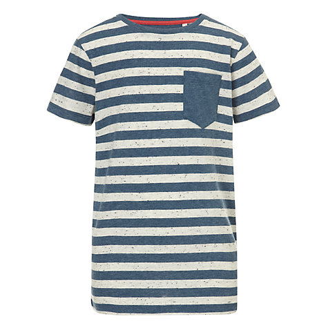 Buy Worn & Torn Boys' Mini Striped T-Shirt, Blue/White Online at johnlewis.com