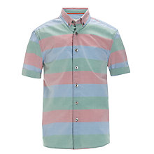 Buy Worn & Torn Striped Shirt, Multi Online at johnlewis.com