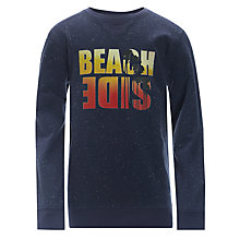 Buy Worn & Torn Boys' Beachside Jumper, Navy Online at johnlewis.com