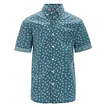 Buy Worn & Torn Short Sleeved Shirt, Blue/White Online at johnlewis.com