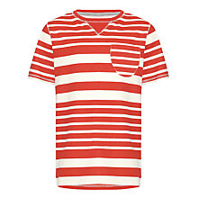 Buy Kin by John Lewis Boys' Crew Neck Vari-Striped T-Shirt Online at johnlewis.com